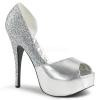 TEEZE-41W Silver Metallic/Glitter